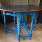 painted oak drop leaf table