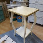 bedside table, wine table