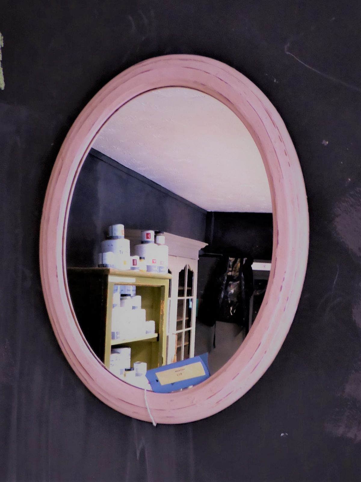 painted mirror pink