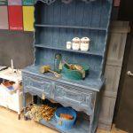 vintage, antique painted dresser