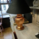 Gilded Lamp with hand-painted shade - £40