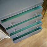 Grey chest - drawers open