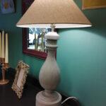 Lamp, base shade and bulb - £80