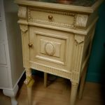 Marble top bedside