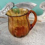 Vintage French amber water jug - £35