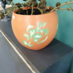 hand-painted vase - £8